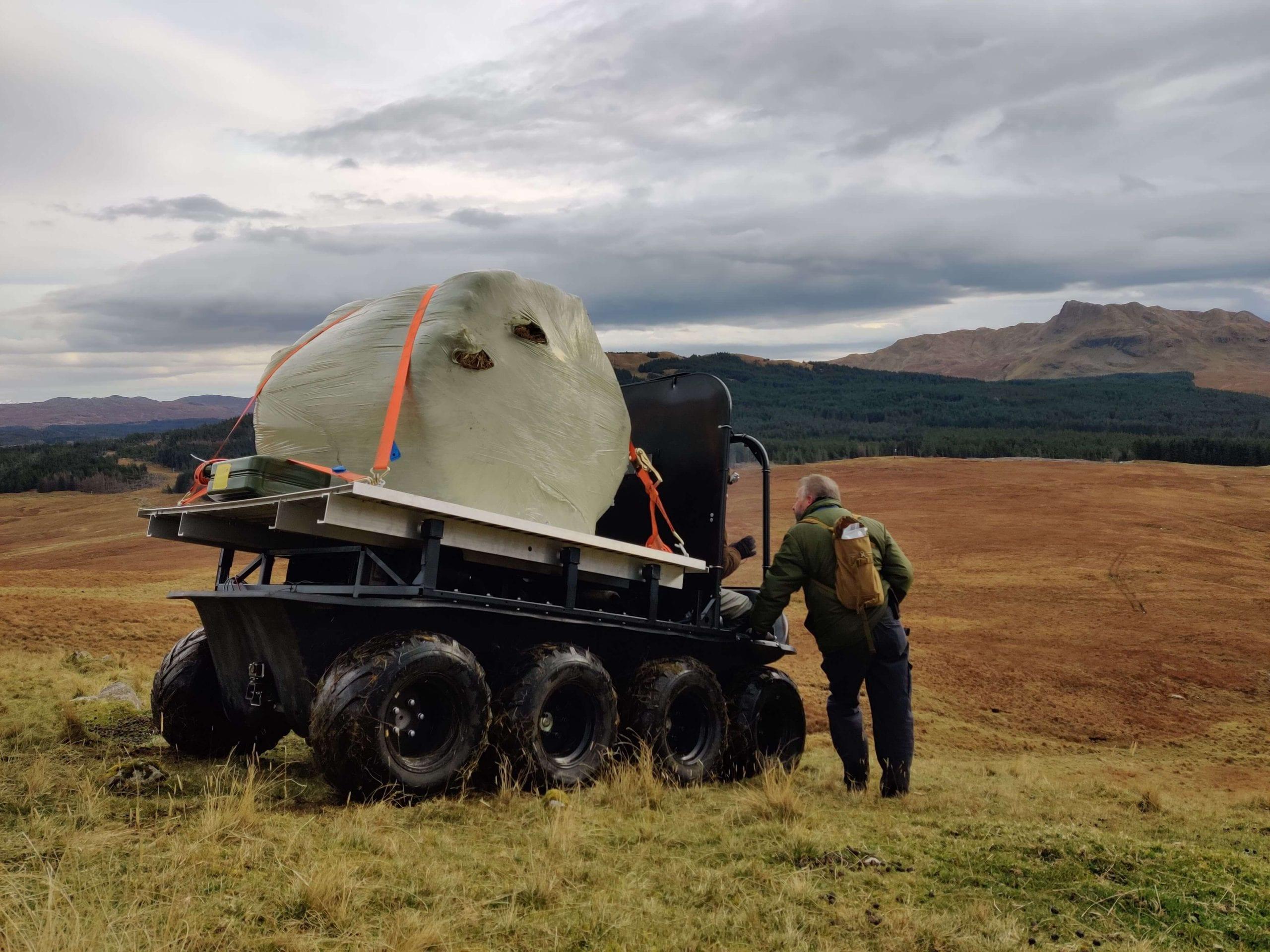 Hydraulic motor for all-terrain vehicle