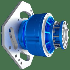 Rotating shaft motor for frac truck